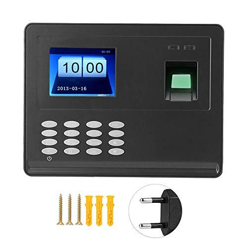 Fingerprint Attendance System, 2,8 Zoll Biometrische Fingerabdruckerkennung Zeiterfassungssoftware Free Time Clock(EU)