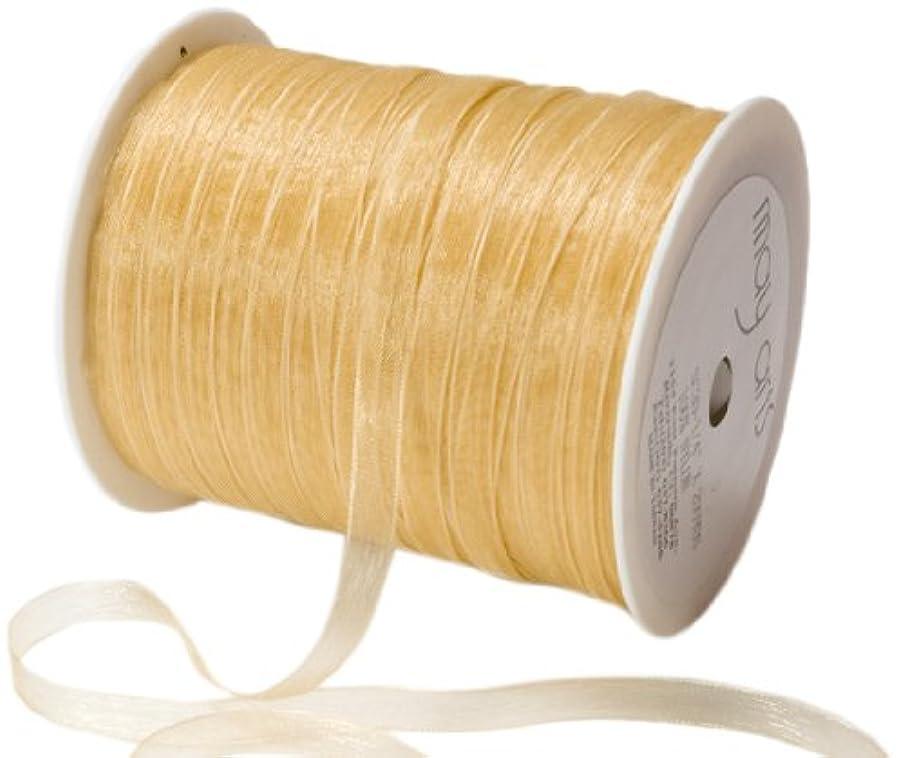 May Arts 1/4-Inch Wide Ribbon, Gold Sheer fxar661809