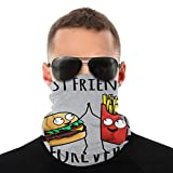 BIZHUDP Cheeseburger and Fries Best Friends Forever Variety Head Scarf Face Mask Magic Headwear Neck Gaiter Face Bandana Scarf