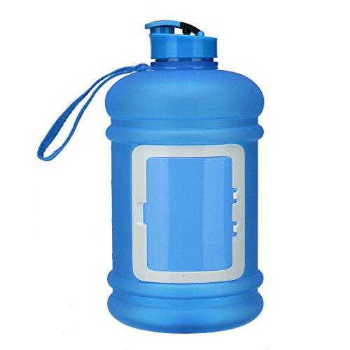 Bluelover 2.2 L De Haute Capacité Sports De Plein Air en Cours d'eau Bouteille Gym Bouilloire Portative - Bleu