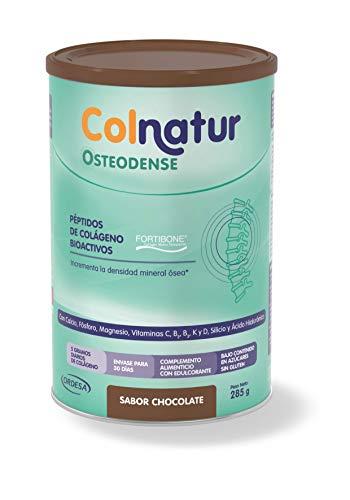 Colnatur Osteodense - Colágeno Hidrolizado para Huesos y Articulaciones, Magnesio, Ácido Hialurónico, Vitamina C - Sabor Chocolate - 290 g