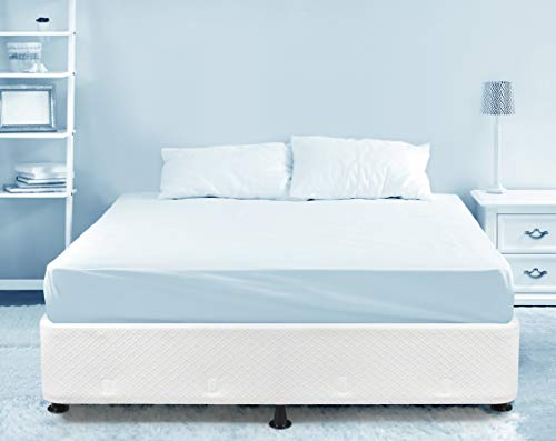 Milliard Box Spring Frame Queen Size High Profile Mattress Foundation Metal Structure, Use with or Without Included Legs or Directly on Bed Frame - Queen