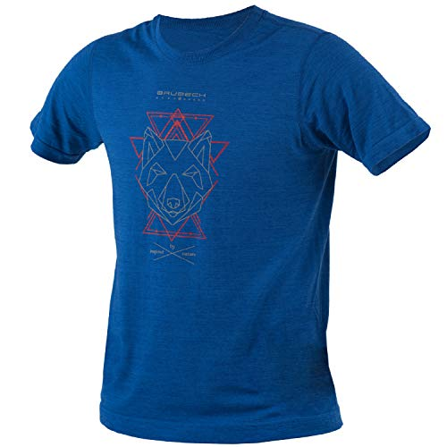 BRUBECK Herren Kurzarm Funktionsshirt | Atmungsaktiv | Thermo | Sport | Fitness | Unterhemd | T-Shirt | 27% Merino-Wolle | SS12650A, Größe:L, Farbe:Indigo Blau