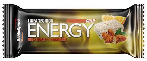 EthicSport - Barretta energetica Gold - Barretta da 35 g - Gusto: Mandorla e Arancia - Fornisce energia velocemente e per lungo tempo