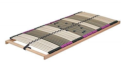DaMi Lattenrost Premium NV (Zerlegt) 70 x 200 cm - 7 Zonen Lattenrahmen Aus Buche Mit 6-Fach Härteverstellung - Starr