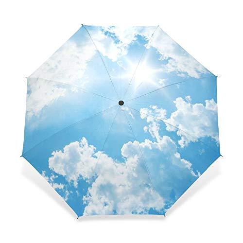 Regenschirm Kreative Luxusmode DREI Klappbare Männer Regenschirm Himmel Kazbrella Winddichte Sonne Regen Frauen Regenschirm