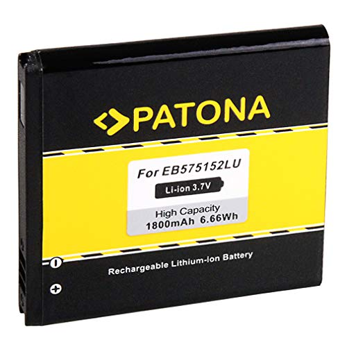PATONA Batería EB-575152LU Para Samsung Omnia 735 B7350 Omnia Pro 4 Samsung i8250 I589 I897 I9000 i9000 Galaxy S I9001 i9001 Galaxy S Plus i9003 i9003 Galaxy SL i9010 Giorgio Armani Galaxy S i919
