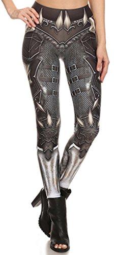 Belsen Damen Elastic Leggings Pants Bleistifthosen Weste T-shirt Set (S, Leggings)
