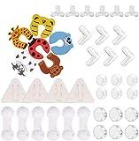 VACNITE 40 Piezas Kit de Seguridad para Bebes y Niños, seguros para Puertas Bebé Cierres de Seguridad para Cajones de Protección a Bebés y Niños