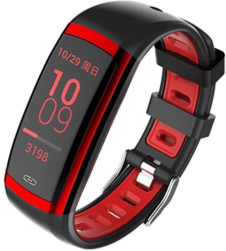 Pulsera de actividad física con monitor de frecuencia cardíaca, impermeable, inteligente, contador de pasos, contador de calorías, podómetro, reloj para niños, mujeres, hombres-B