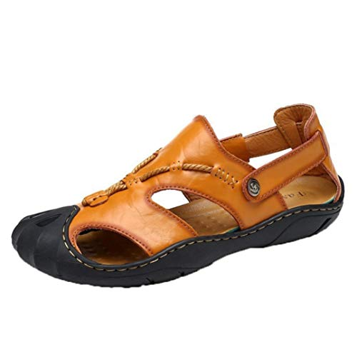 Hombres Sandalias Cerradas al Aire Libre Senderismo Informal Antideslizante Zapatos de Playa Resbalón Transpirable de Verano en Pisos de Pescador