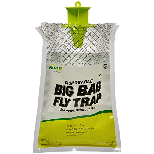 RESCUE! Big Bag Fly Trap – Large Disposable Outdoor Hanging Fly Trap