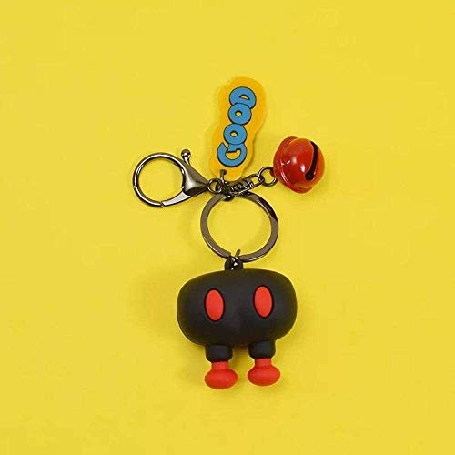 Car Styling Keychain Creative funny ass cartoon keychain, ugly cute ornaments, couple Fit For car key chains, cute backpack ornaments-DJ-Red Butt Keychain,Colour Name:DJ-black ass keychain Keychain,