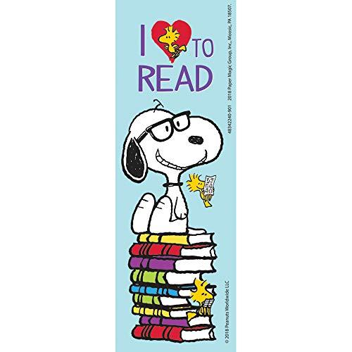 Eureka Peanuts'I Love to Read', segnalibri Snoopy per bambini, 36 ct, 5,1 x 15,2 cm