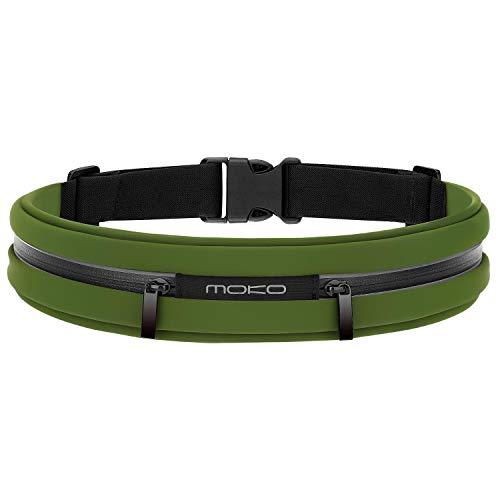 MoKo Sports Running Belt, Outdoor Dual Pouch...