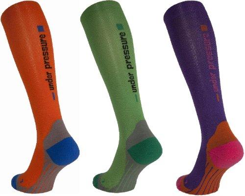 Sport Kompressionsstrumpf Under Pressure Competition Kompressionsklasse 20-22mmHg (grün, 35-38 (Wadenmaß: 28-38cm))