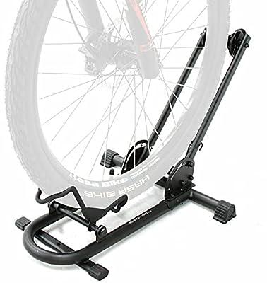 Repacked BIKEHAND Bicycle Floor Type Parking Rack Stand - for Mountain and Road Bike Indoor Outdoor Nook Garage Storage