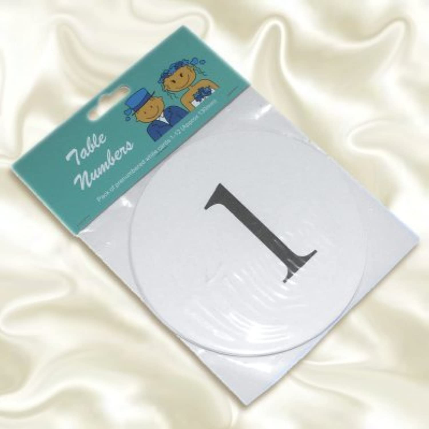 Pre-Numbered Cards 1 to 12 - White by 1StopShops