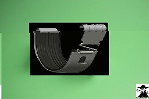 Rinnenverbinder für Dachrinne Titanzink (mittel - 7 TLG RG 125 NG280)