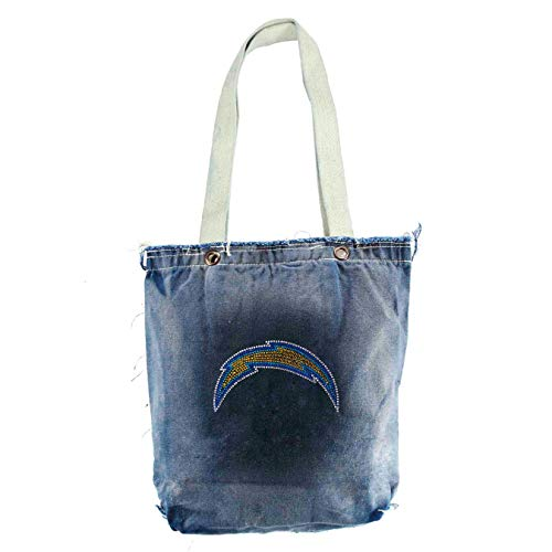 Little Earth NFL San Diego Chargers Vintage Shopper Bag with Crystals