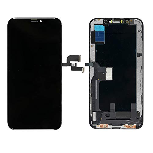 Best Shopper - Replacement AAA Quality LCD Touch Screen and Digitizer Assembly Frame Compatible with Apple iPhone Xs - Black/Space Grey