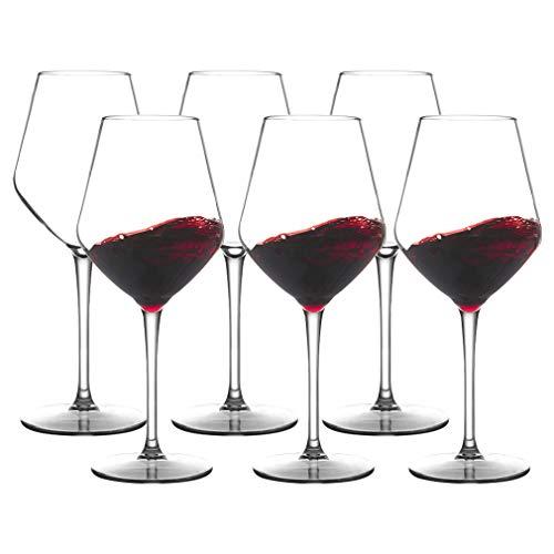 MICHLEY Juego de 6 copas de vino irrompibles