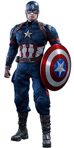 Hot Toys Figurine Captain America Échelle 166 (Rouge/Blanc/Bleu)