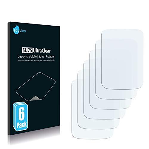 Savvies 6X Schutzfolie kompatibel mit O2 XDA Star Bildschirmschutz-Folie Ultra-transparent