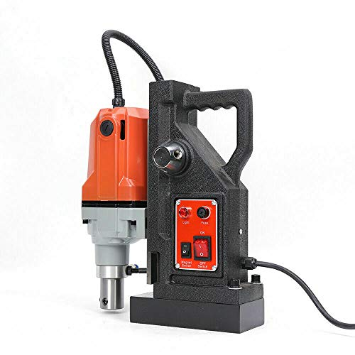 Eapmic Electric Magnetic Drill Press, 1100W Portable Magnetic Drill Machine with 1.5 Inch (40mm) Boring Diameter, 2700LBS Magnetic Force, 550RPM, MD40 Metal Surface Drilling Tool