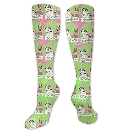Quecci Go Vegan Animal Men und Women Knee High Socks Soft Boot Socks Cosplay Socks For Party Halloween School