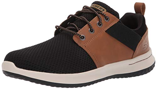Skechers Men's DELSON-Brant Trainers, Brown (Brown Black Brbk), 9 (43 EU)