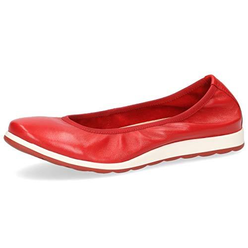 CAPRICE Damen Ballerinas 22162-24, Frauen Klassische Ballerinas, lose Einlage, freizeitschuh weibliche Lady Ladies Women,RED SOFTNAPPA,41 EU / 7.5 UK