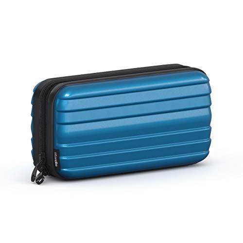 stardis Kosmetiktasche Hartschalen Kulturtasche Hardcase Damen Herren Kulturbeutel in Kofferform Flight-Beautycase Wasserdicht Mini-Koffer Optik Waschbeutel für Frauen, Männer, Kinder (perlnacht-blau)