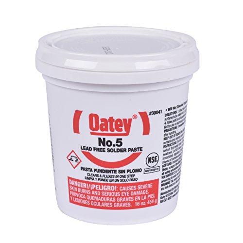 Oatey, 30041, pasta flux, saldante, barattolo, 16 oz.
