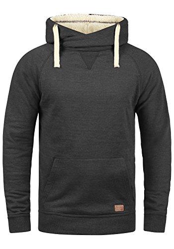 BLEND Sales Teddy - Sweater à capuche- Homme, taille:L, couleur:Charcoal Mix Teddy (75124)