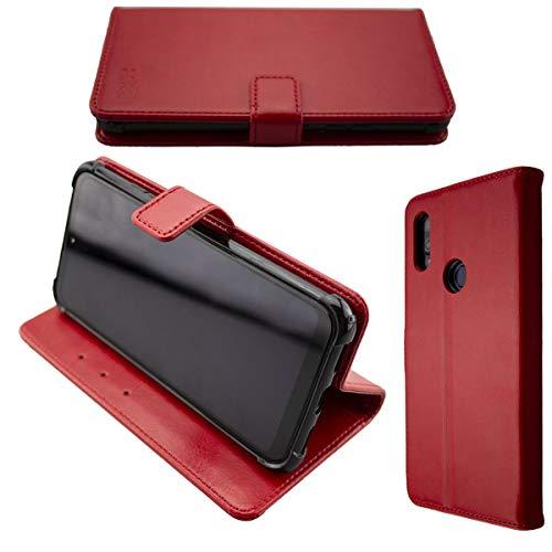 caseroxx Handy Hülle Tasche kompatibel mit Gigaset GS190 Bookstyle-Hülle Wallet Hülle in rot
