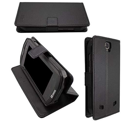 Casco para Crosscall Trekker-M1 Core, Bookstyle-Case Funda Protectora a Prueba de Golpes para Smartphone (Carcasa de Color Negro)