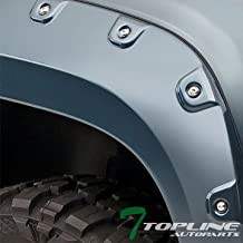 Topline Autopart Boss Pocket Rivet Bolt Style Fender Flares (Black) For 07-13 Chevy Avalanche