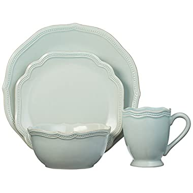 Lenox 4 Piece French Perle Bead Place Setting, Ice Blue