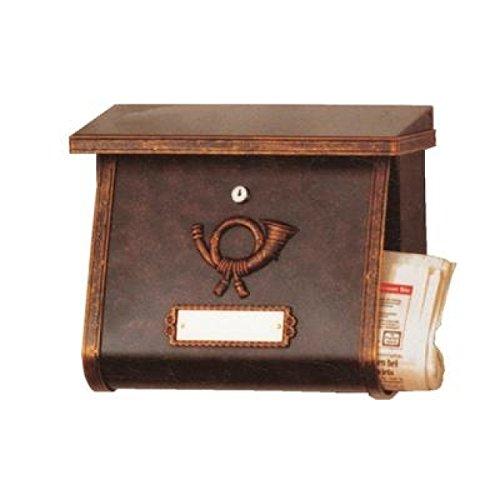 Heibi Briefkasten MULTI im Landhausstil, braun-gold