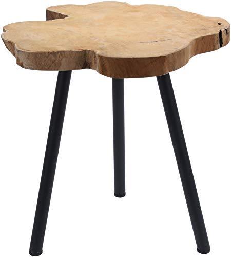 Teak bijzettafel massief - houten tafel salontafel nachttafel decoratieve tafel