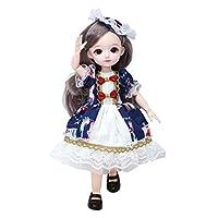 Perfeclan 23ジョイントbjdガール人形3D目光と音とソフトと服靴ロングヘア素敵なファッションかわいいキッズガールおもちゃ - を