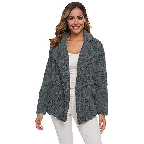 Chaqueta De Invierno para Mujer Abrigo paño Mujer Casual Outwear Abrigos Mujer Abrigo Teddy Parka...