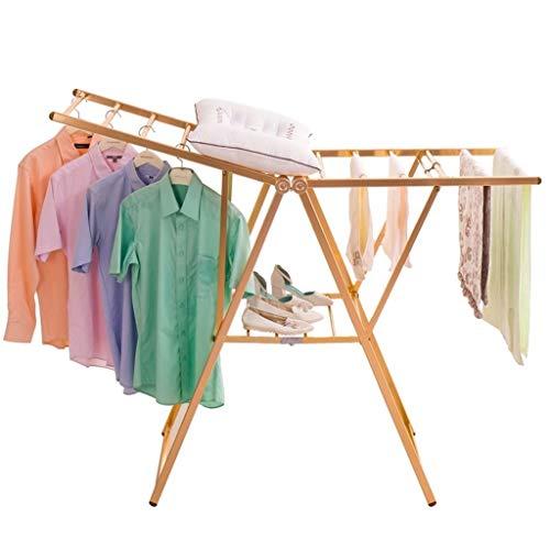 KangJZ Bastidores de ropa for el hogar, aleación de aluminio de oro...