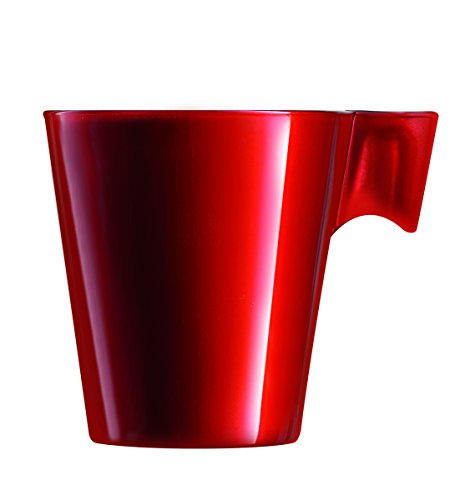 Luminarc 9204412 Lot de 6 Tasses Flashy Expresso Verre Rouge 8 cl