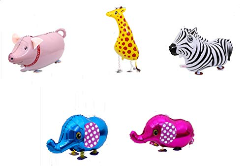 5 Stks Walking Animal Ballons Dinosaur Hond Olifant Air Walkers Mylar Foil Helium Herbruikbare Ballons voor Kids Gift Party Decor one size style-3