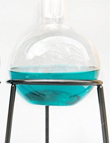 YiFun Trade 24/29 1-hals 3L vlakke bodem glazen fles met één hals Lab Chemische fles