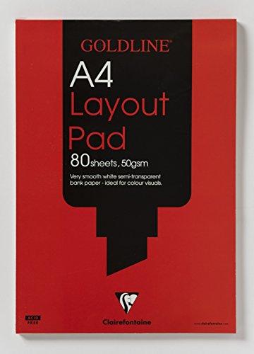 Goldline GPL1A4Z - Papel de calcar (80 hojas, A4, 50 g/m²)