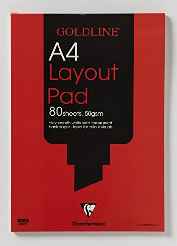 Goldline Layout-Block Bankpapier A4 50g/m² 80 Blatt