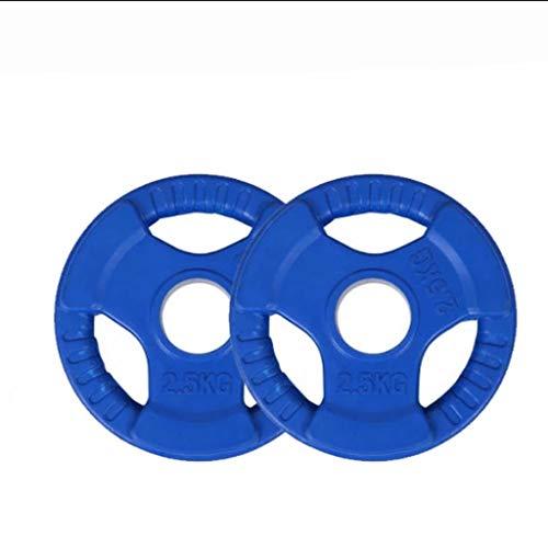 Discos de pesas Placa de peso adapta Olímpico Barra for pesas, pesos estándar de 2 pulgadas Agujero Gimnasio en casa Pesa de mano Pesas for físico culturismo para musculación ( tamaño : 5kg(2.5kg*2) )